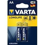 4106(A316/LR6/AA)2, Элемент питания алкалиновый LONGLIFE (2шт) 1.5В