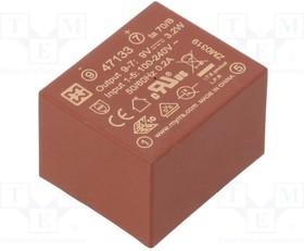 47133, Преобразователь: AC/DC; 3,2Вт; Uвых:9ВDC; Iвых:360мА; 73%