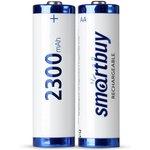 Фото 5/5 Аккумулятор NiMh Smartbuy AA/2BL 2300 mAh (24/240) (SBBR-2A02BL2300)