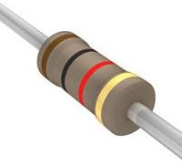 Резистор углеродистый CF-25 (С1-4) 0.25 Вт, 2 кОм, 5%, Р 2,0К\ 0,250\AXI 2,3x 6,2\ 5\CF\2L\CFR\
