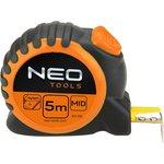 Рулетка NEO 67-115 стальная лента 5мx25мм магнит