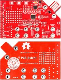 PCB Ruler IIa, Мини лаборатория размером с кредитную карту на основе МК STM32F042F6P6. MyOpenLab