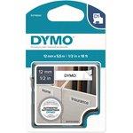 DY-S0718060K-1, Картридж D1 с пластиковой лентой с перманентным клеем (белая) ...
