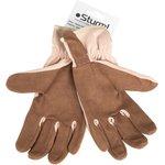 8054-01-L перчатки раб. жен., цвет коричн-беж. с рис. цветка, р. L