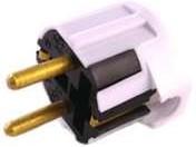 Вилка электрическая штепс. угловая с заземл. 16А бел. БЕЛТИЗ В16-003