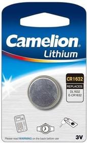 Элемент питания литиевый CR CR1632 BL-1 (блист.1шт) Camelion 5227