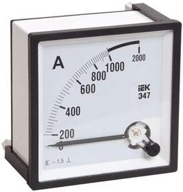 Амперметр Э47 72х72мм 1000/5А кл. точн. 1.5 ИЭК IPA10-6-1000-E
