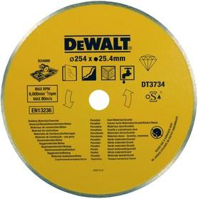 Диск алм. DeWALT DT3734-XJ Ф254х25.4мм сплошной по керамике