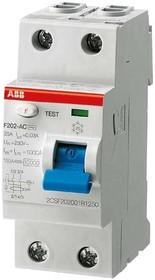 Фото 1/2 Выключатель дифференциального тока (УЗО) 2п 40А 30мА тип A F202 ABB 2CSF202101R1400