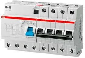 Выключатель авт. диф. тока 4п 8мод. C 63А 30мА тип AC 6кА DS204 ABB 2CSR254001R1634