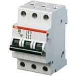S203 C16, Выключатель автоматический трехполюсный 16А С S203 6кА