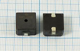 Излучатель звука магнитоэлектрический без генератора, SMD 12x12мм, 5В/47 Ом; SMD зм 12x12x7\ 5\47\2,4\2C\SMT-1265B\