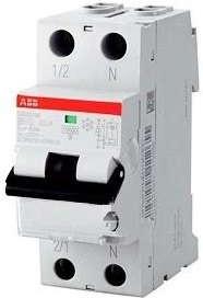 Выключатель автоматический дифференциального тока 2п (1P+N) C 20А 30мА тип AC 6кА DS201 2мод. ABB 2CSR255040R1204