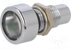 AMLD0822, Индикат.лампа: LED; выпуклый; Отв: ø8,2мм; IP67; латунь