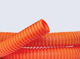 Труба гофрированная ПНД 16 мм с протяжкой оранжевая (100м)