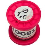 (ПОС-61) припой ПОС 61 без канифоли, диаметр 1.0 мм, 100 гр