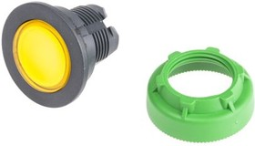 ZB5FW383, FLUSH ILL PUSHBUTTON YELLOW