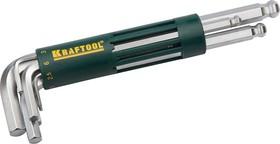 27431-2_z01, Набор KRAFTOOL: Ключи имбусовые длинные с шариком, Cr-Mo сталь, держатель-рукоятка, HEX 2-10мм, 8 пр