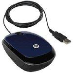 Мышь HP X1200 оптическая проводная USB, синий [h6f00aa]