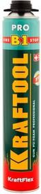 41186_z01, FIRE STOP B1 огнестойкая пена монтажная, пистолетная, 750мл, SVS, KRAFTOOL