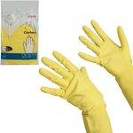 Перчатки хоз резиновые Контракт с х/б напылением, размер L , желтые, 101018 602149