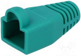 795-601304, Корпус вилки RJ45; 6мм; Цвет: зеленый