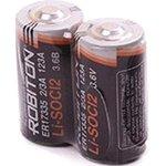 ER17335 (2/3A), Элемент питания литиевый 1800мАч (LSC1800-2/3A-3.6V)(1шт)