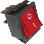 IRS-201-1C3 (красный), Переключатель с подсветкой ON-OFF (15A 250VAC) DPST 4P