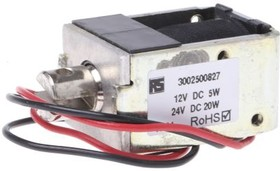 68-120-610-620, PULL ACTION LATCHING SOL,5W 12VDC, 9MM