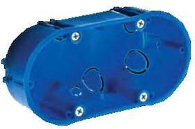 Тусо.Коробка ГСК двухместная140х65х45мм (овальная, с 4 метал.лапками)