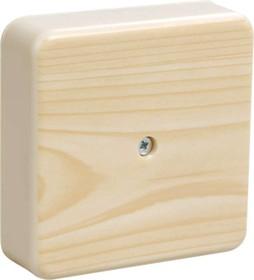 Коробка распаячная ОП 75х75х20 IP20 КМ41212-04 (6 клем. 6кв.мм) сосна ИЭК UKO10-075-075-020-K34