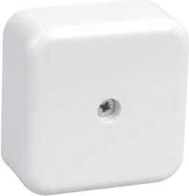 Коробка распаячная ОП 50х50х20 IP20 КМ41206-01 (4 клем. 3кв.мм) бел. ИЭК UKO10-050-050-020-K01