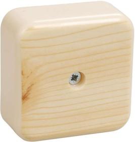 Коробка распаячная ОП 50х50х20 IP20 КМ41206-04 (4 клем. 3кв.мм) сосна ИЭК UKO10-050-050-020-K34