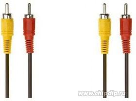 PL1069, Kабель 2xRCA вилка - 2xRCA вилка, стерео-аудио, 5 м | купить в розницу и оптом