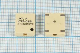 Излучатель звука магнитоэлектрический без генератора SMD 14x11x3мм, 3В/18 Ом , SMDбок зм 14x11x3\ 3,0\18\2,731\2C\ KSS-03B\KINGSTATE