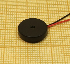 Излучатель звука пьезокерамический без генератора 13x2.5мм, с гибкими выводами 90мм зп 13x 2,5\1~15\\ 4,8\2L90\ AW12S13TEL095-488Z\