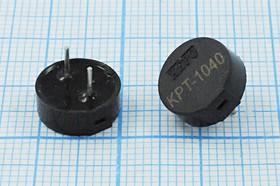 Излучатель звука пьезокерамический без генератора с выходом звука вбок 10.6x4мм, зп 10,6x 4m10,7\3~15\\ 4,0\2P5\KPT-1040\KEPO