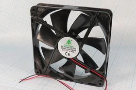 Фото 1/3 Вентилятор постоянного тока 12 Вольт, 140x140x25мм,подшипник скольжения, ВН426S вент 140x140x25\ 12В\0,4А\2L\ПС\FSY14S12H