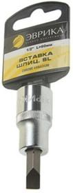 Насадка-вставка с битой шлиц SL10 1/2 10мм L=60мм с держателем ER-94302H