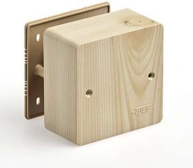 Тусо.Коробка универс. для кабель-каналов, 85х85х42мм (сосна на светлой основе)