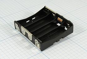 Фото 1/2 Батарейный отсек для 4-х элементов AA=316 с креплением на плату 12523 бат держ AA4\\\2P12,7\BA4AAPC\MPD