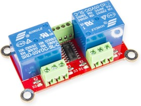 Фото 1/2 RDC1-2RA Relay, Двухканальный релейный модуль для Arduino, Raspberry Pi проектов