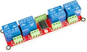Фото 1/2 RDC1-4RA Relay, Четырехканальный релейный модуль для Arduino, Raspberry Pi проектов