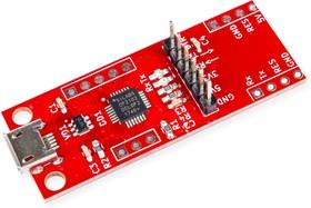 Фото 1/5 RDC1-USB-UART, Преобразователь USB-UART, CP2102, USB micro с возможностью установки Arduino Mini