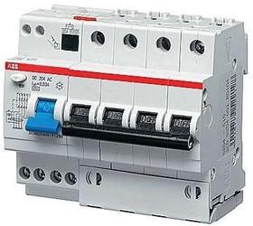 Выключатель авт. диф. тока 4п 6мод. C 10А 30мА тип AC 6кА DS204 ABB 2CSR254001R1104