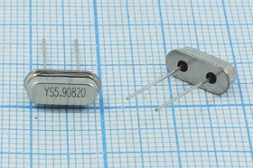 Фото 1/4 кварцевый резонатор 5.908МГц в низком корпусе HC49S, нагрузка 20пФ, 5908 \HC49S3\20\ 20\ 30/-20~70C\49S\1Г