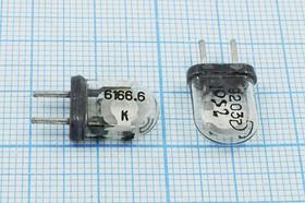 Фото 1/4 кварцевый резонатор 6.1666МГц в стеклянном корпусе КА с жёсткими выводами, 6166,6 \КА\\\\\1Г
