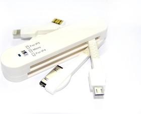 Переходник USB iphone5/4/microUSB, складной