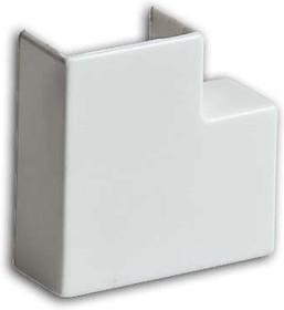 Угол плоский (поворот на 90град.) 40х16 бел. Рувинил ПВР-40х16