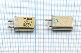 Фото 1/4 кварцевый резонатор 9.1МГц в корпусе с жёсткими выводами МВ, без нагрузки 9100 \МВ\\ 15\ 20/-10~60C\РК169МВ-6АП\1Г